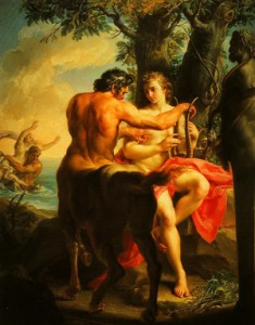 Achilles and the Centaur Chiron by Pompeo Batoni