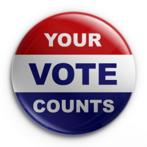 Voting Badge - Your Vote Counts!