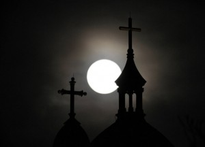 Full Moon over Church