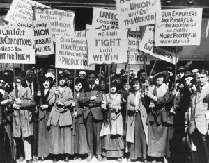 Protest for unions
